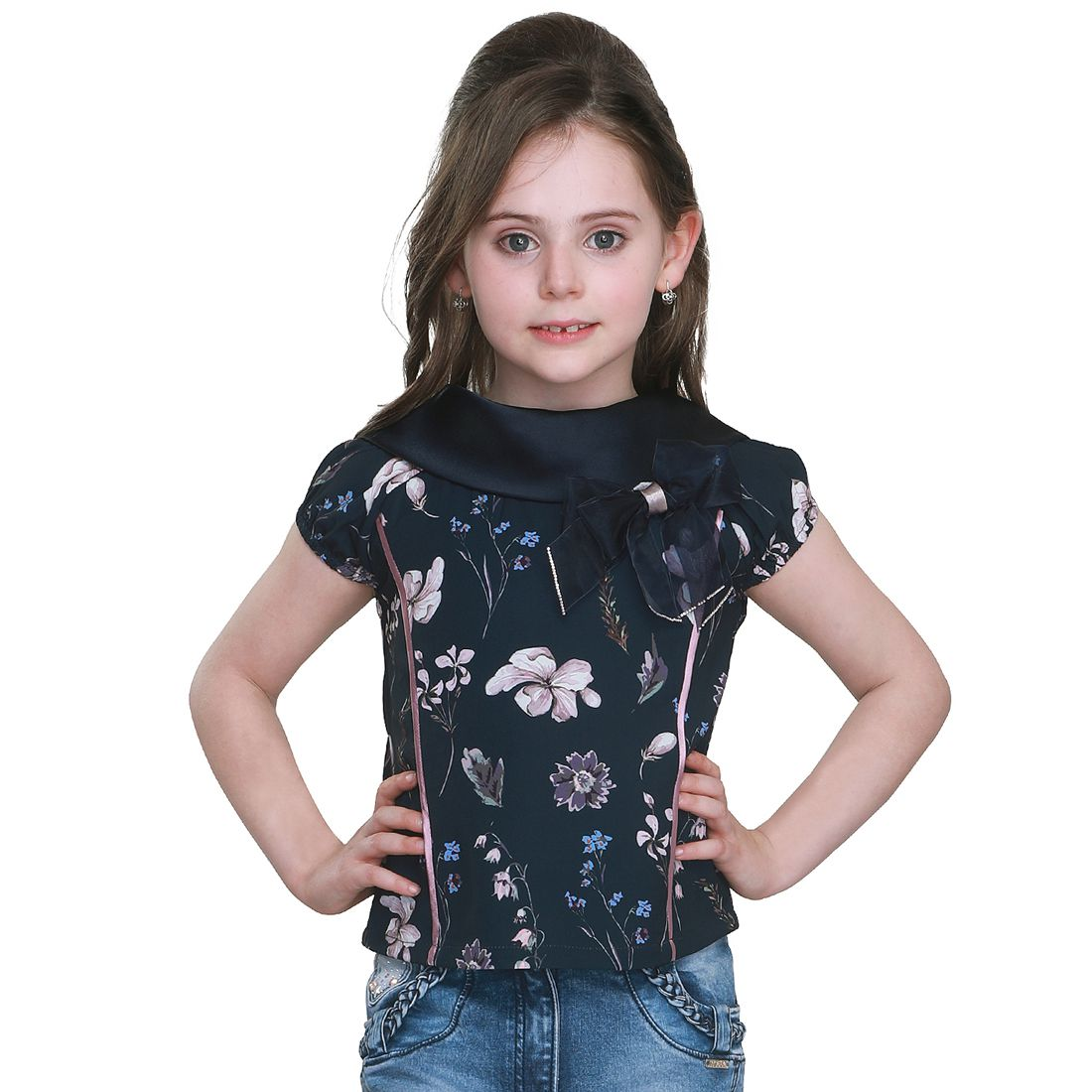 Cutecumber Girls Partywear Crepe Top