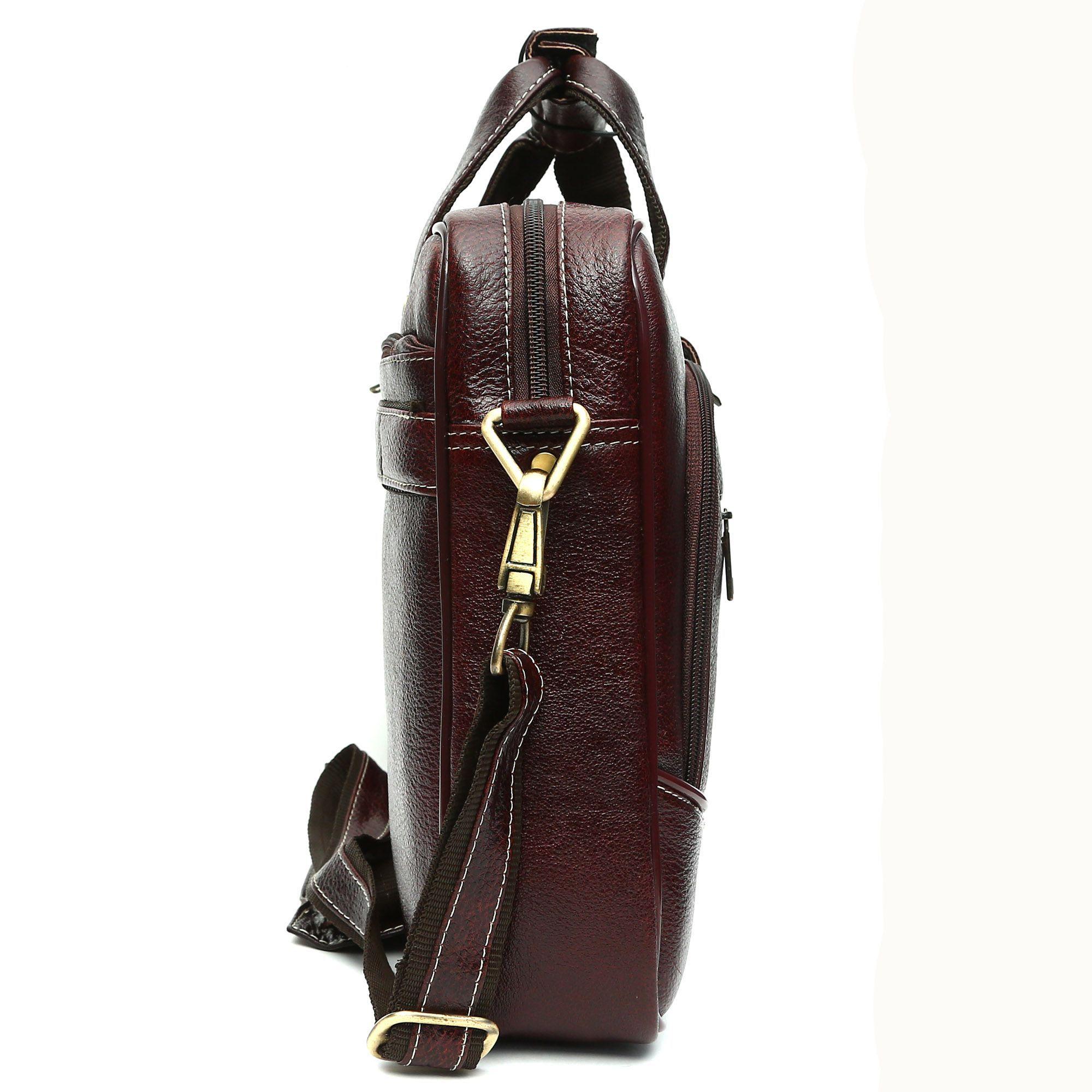 HAMMONDS FLYCATCHER Brown Leather Office Bag - Buy HAMMONDS ... e2beb7d93330b
