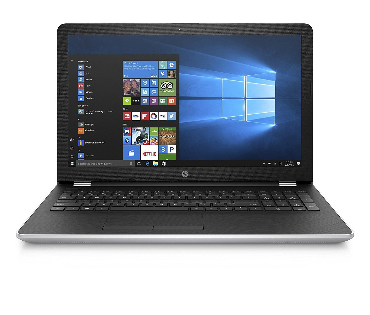 HP 15 BS670TX Notebook Core i3 (6th Generation) 4 GB 39.62cm(15.6) Windows 10 Home without MS Office Integrated Graphics SILVER