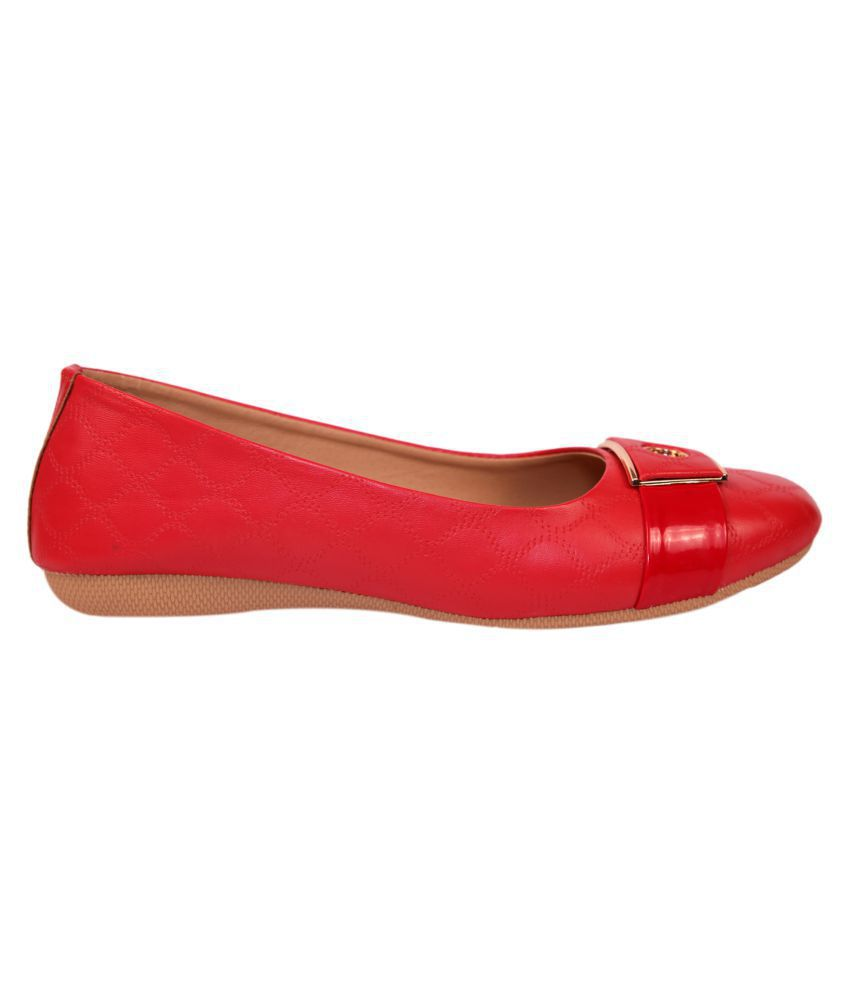 LUSH Red Ethnic Footwear