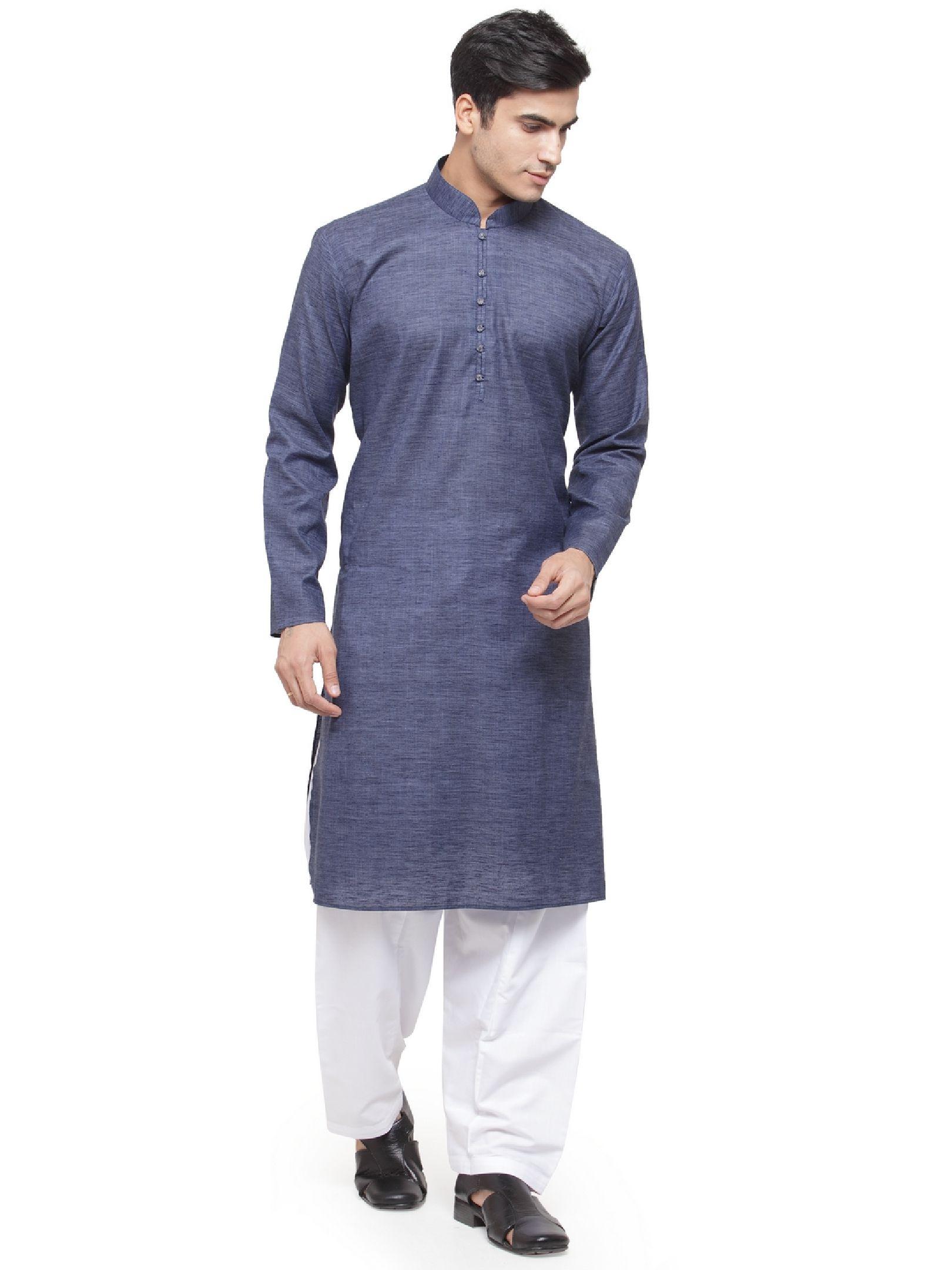 RG Designers Purple Cotton Kurta Pyjama Set