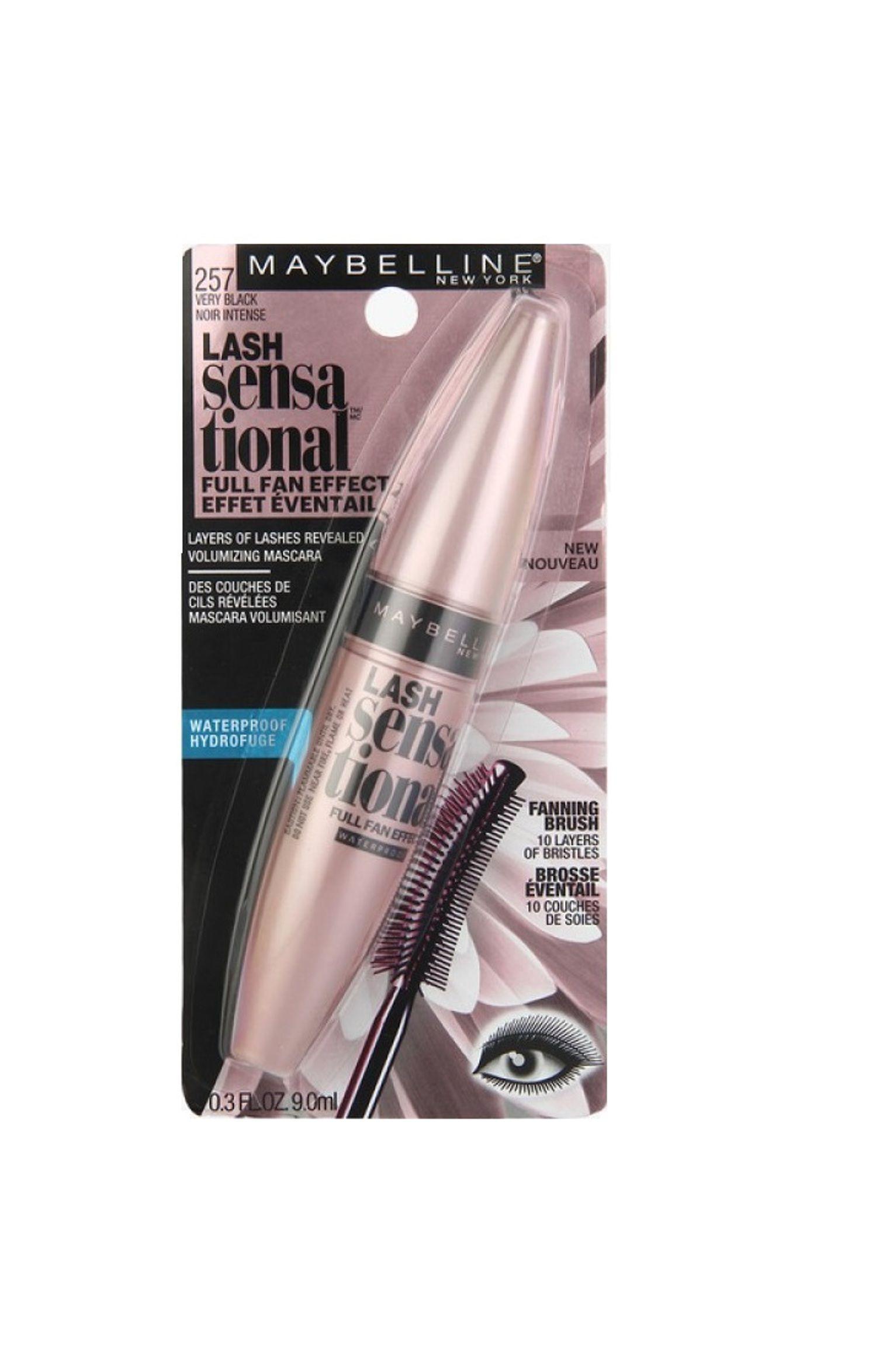a7ca497111a Maybelline Lash Sensational Mascara 257 Very Black 257 Very Black Noir  Intense 9 ml: Buy Maybelline Lash Sensational Mascara 257 Very Black 257  Very Black ...