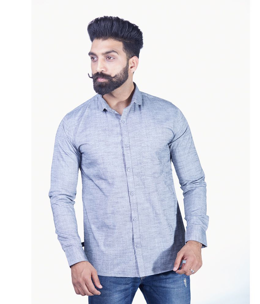 Rellin Blue Regular Fit Shirt Single