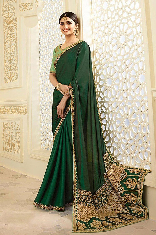 21c5364dd5 SareeShop Designer SareeS Green Georgette Saree - Buy SareeShop Designer  SareeS Green Georgette Saree Online at Low Price - Snapdeal.com