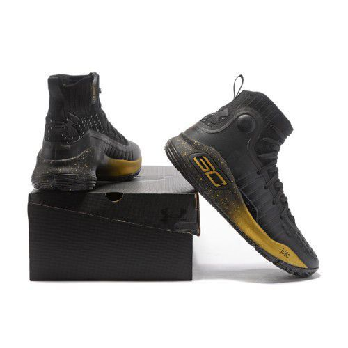 8c307b62f1de Under Armour STEPHEN CURRY 4 GOLD Black Basketball Shoes - Buy Under ...