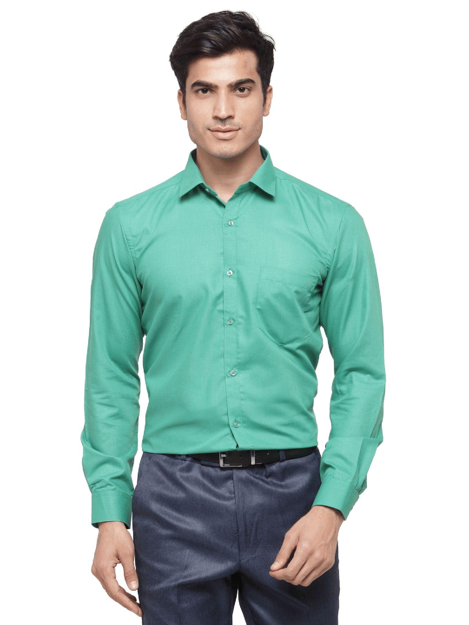 RG Designers Green Slim Fit Formal Shirt
