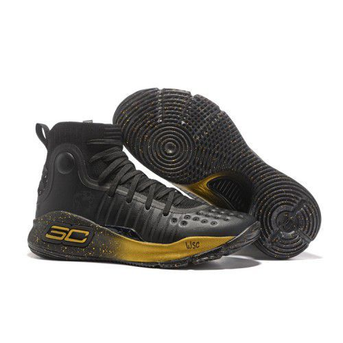 cheap for discount 5567b fd5c0 Under Armour STEPHEN CURRY 4 Black Basketball Shoes