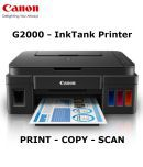 Canon Pixma G2000 Multi function (Print,Scan,Copy) All in One Colour Ink tank Printer