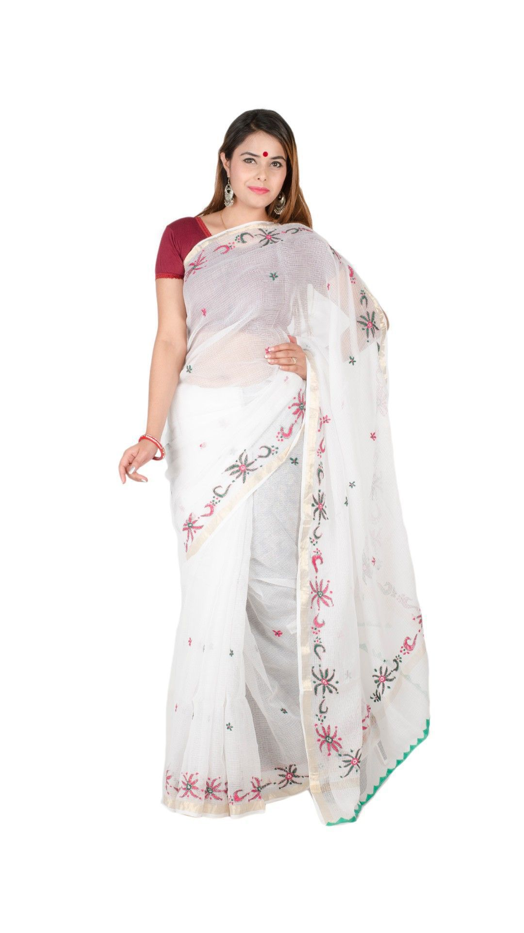 7fb6b2e280 Tribes India White and Grey Cotton Saree - Buy Tribes India White and Grey  Cotton Saree Online at Low Price - Snapdeal.com