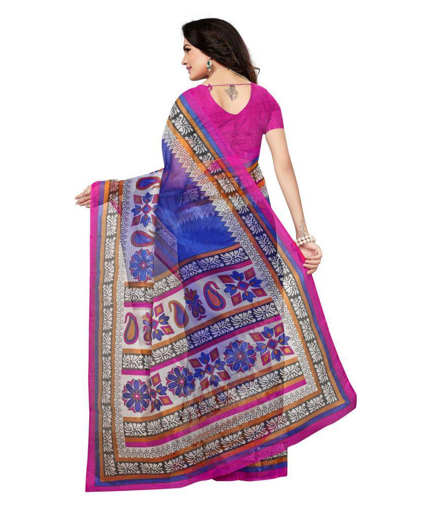 f54c53c397e49 Salwar Studio Blue and Grey Kora cotton Saree - Buy Salwar Studio ...