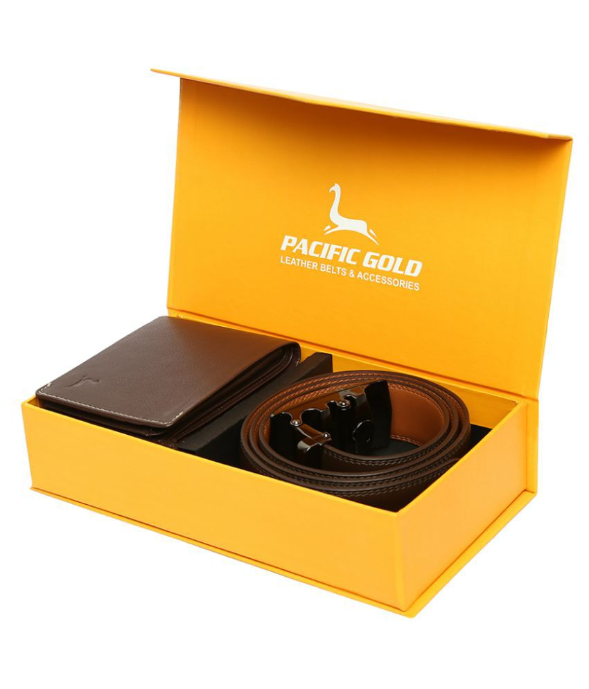Pacific Gold Belts Wallets Set