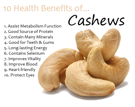 health and  weight loss benefits of cashew nuts