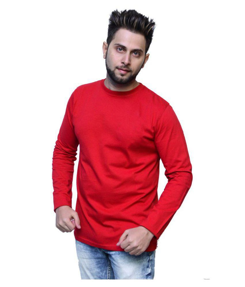 NICE QUEEN Red Round T-Shirt Pack of 1