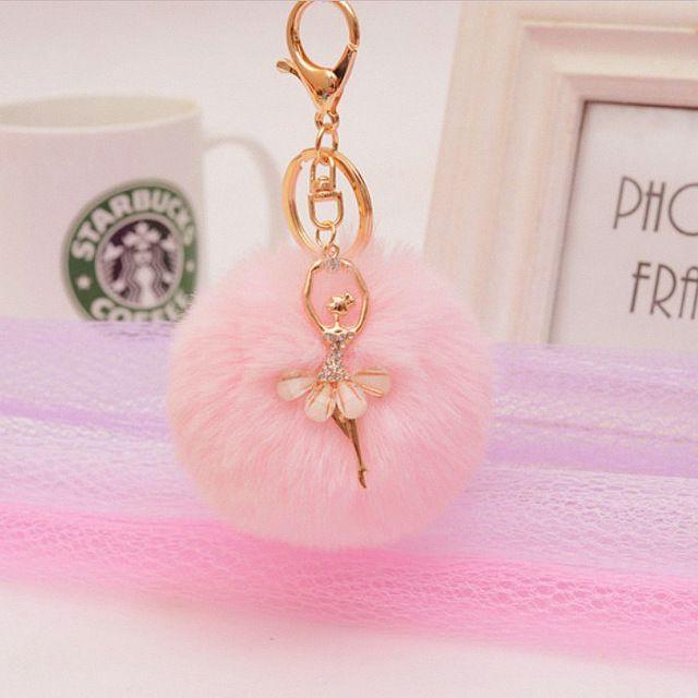 Gold Key Chain Pom Pom Key Rings Fake Rabbit Fur Ball KeyChain Pompom Angel  Girl Fourrure Pompon Women Bag Charms Jewelry  Buy Online at Low Price in  India ... 4f006066c2