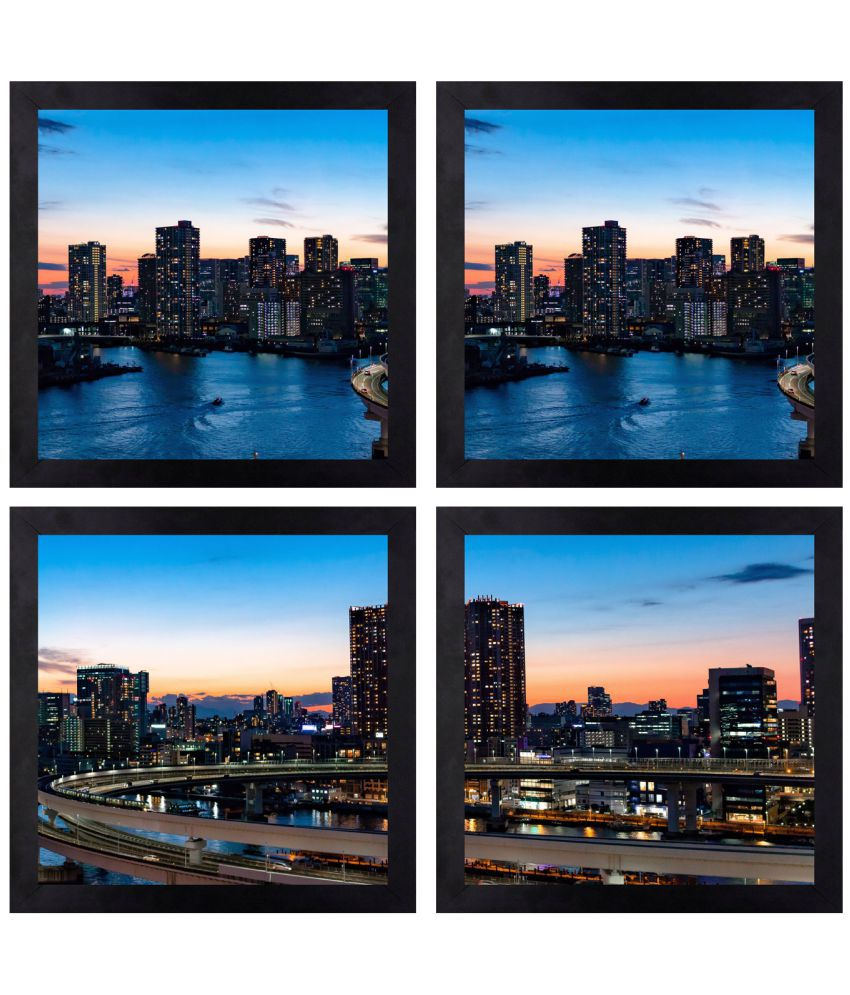 CRAFTSFEST BEAUTIFULL DÉCOR OF BUILDING DIGITAL REPRINT CANVAS PAINTING Canvas Painting With Frame