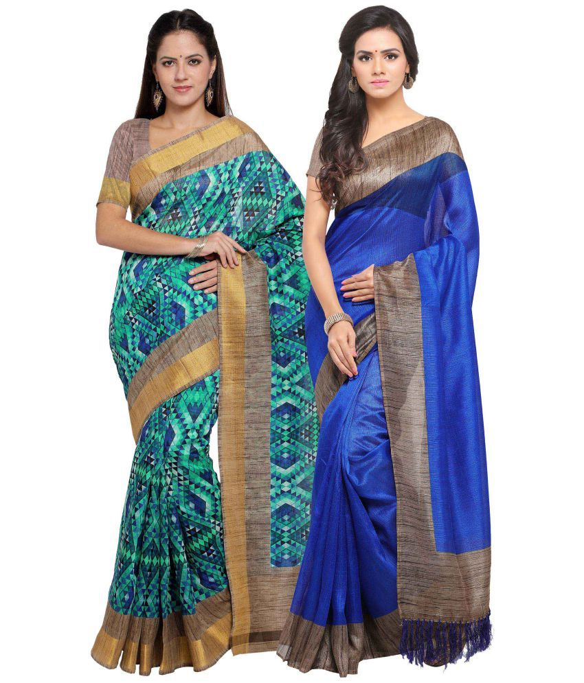 Rajnandini Multicoloured Tussar Silk Saree Combos