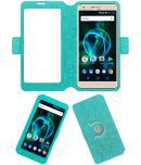 Panasonic P55 Max Flip Cover by ACM - Blue