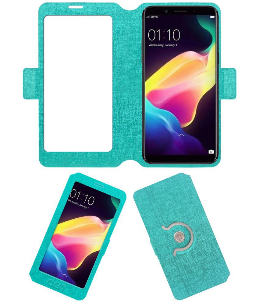 Oppo F5 Youth Flip Cover by ACM - Blue