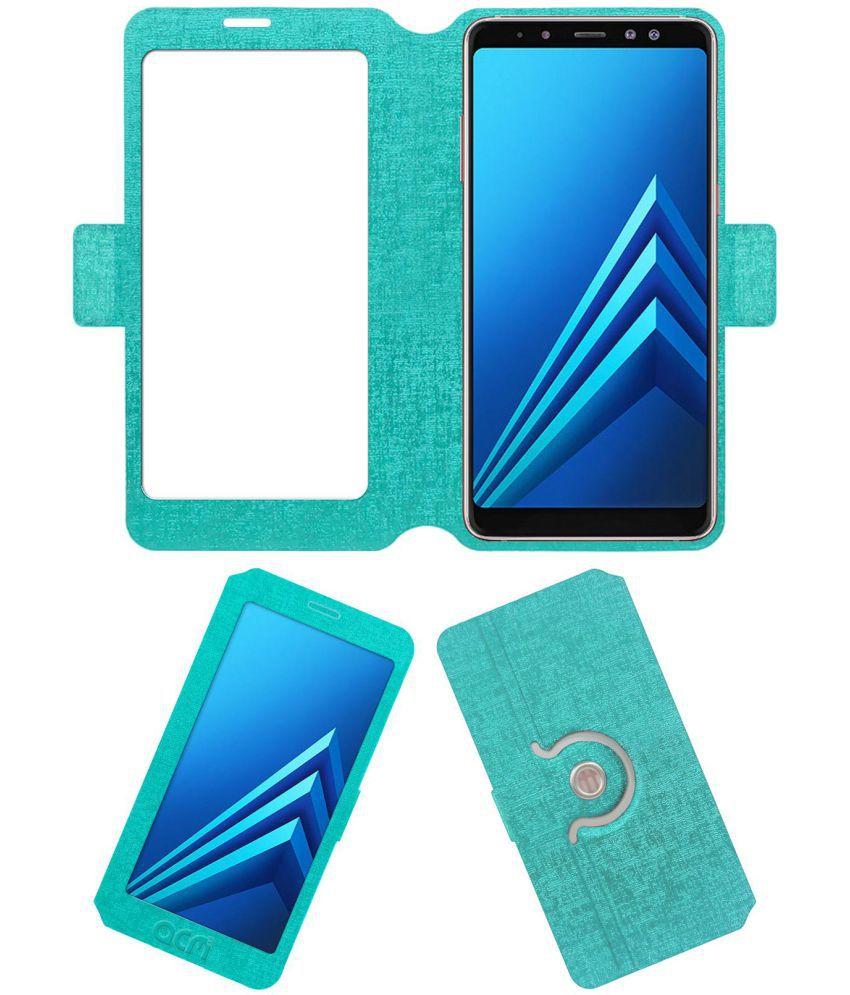 Samsung Galaxy A8 Plus Flip Cover by ACM - Blue