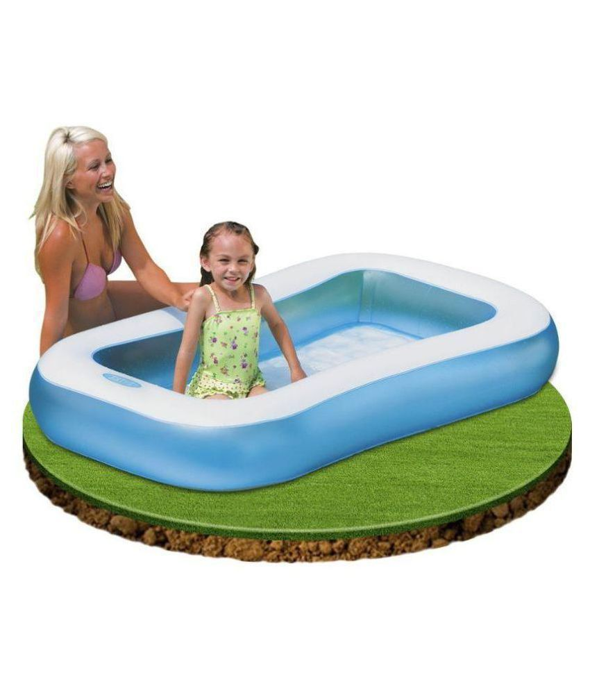 Dwiza 5 Feet Regtangular Inflatable Kids Swimming Pool With Air Pump Free Buy Dwiza 5 Feet Regtangular Inflatable Kids Swimming Pool With Air Pump Free Online At Low Price Snapdeal