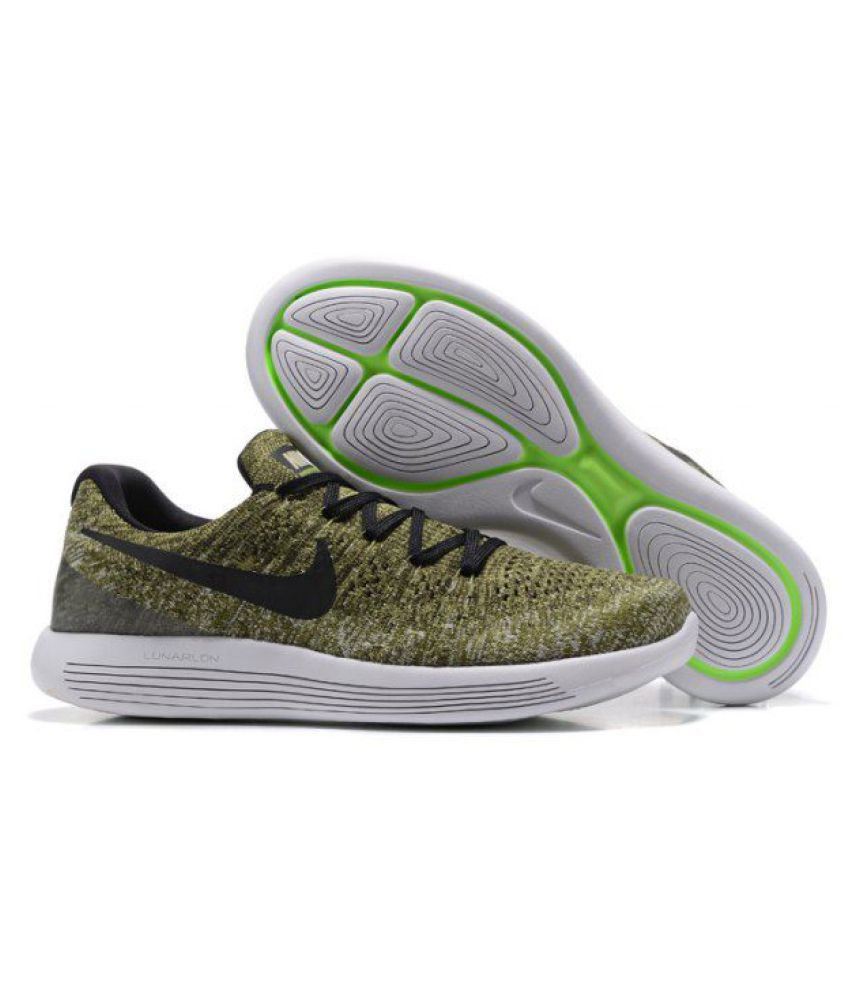 new style 21e20 3eb05 ... Nike LunarEpic Low Flyknit 2 Khaki Running Shoes ...