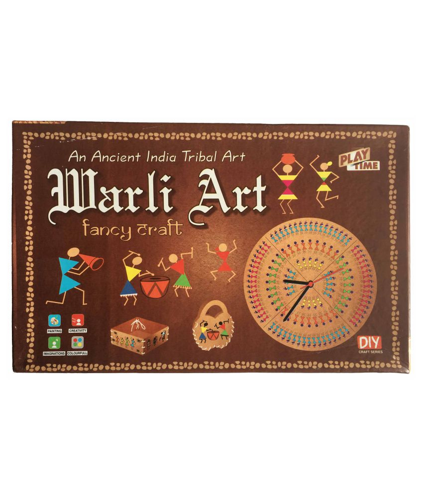 Warli Art Game For Kids Craft Kits Do It Yourself Drawing Painting Kit Paint And Color Diy Activity Game Worli Art