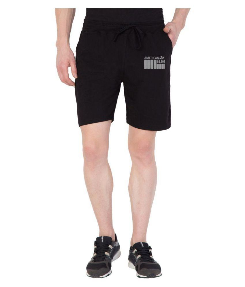 American-Elm Black Shorts