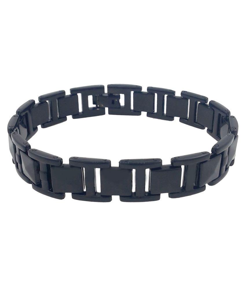 Saizen BR716 Cool Black Bracelet for Men & Boys
