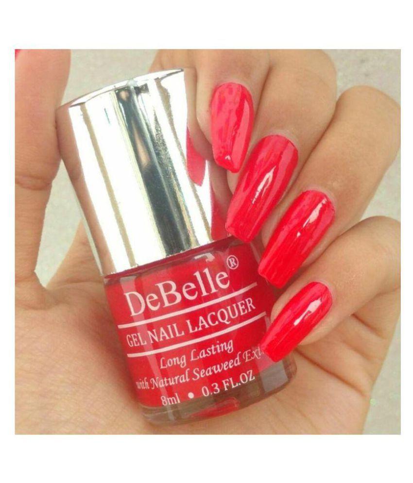 DeBelle DeBelle Nail Polish Red,Orange,Blue,Maroon,mauve Matte 8 ml ...
