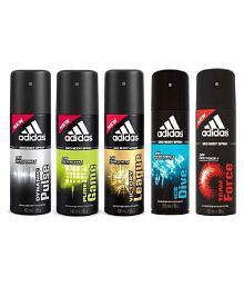 Adidas Deodrants for Man(Victory League,Team Force, Pure Game, Ice Dive, Dynamic Plus) Pack of 5