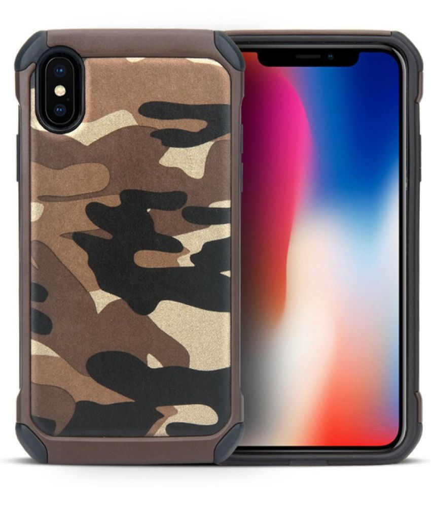 on sale 0a152 4d6a9 Apple iPhone X Shock Proof Case iMob - Brown