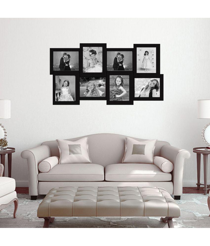 Elegant Arts & Frames Plastic Wall Hanging Black Collage Photo Frame - Pack of 1
