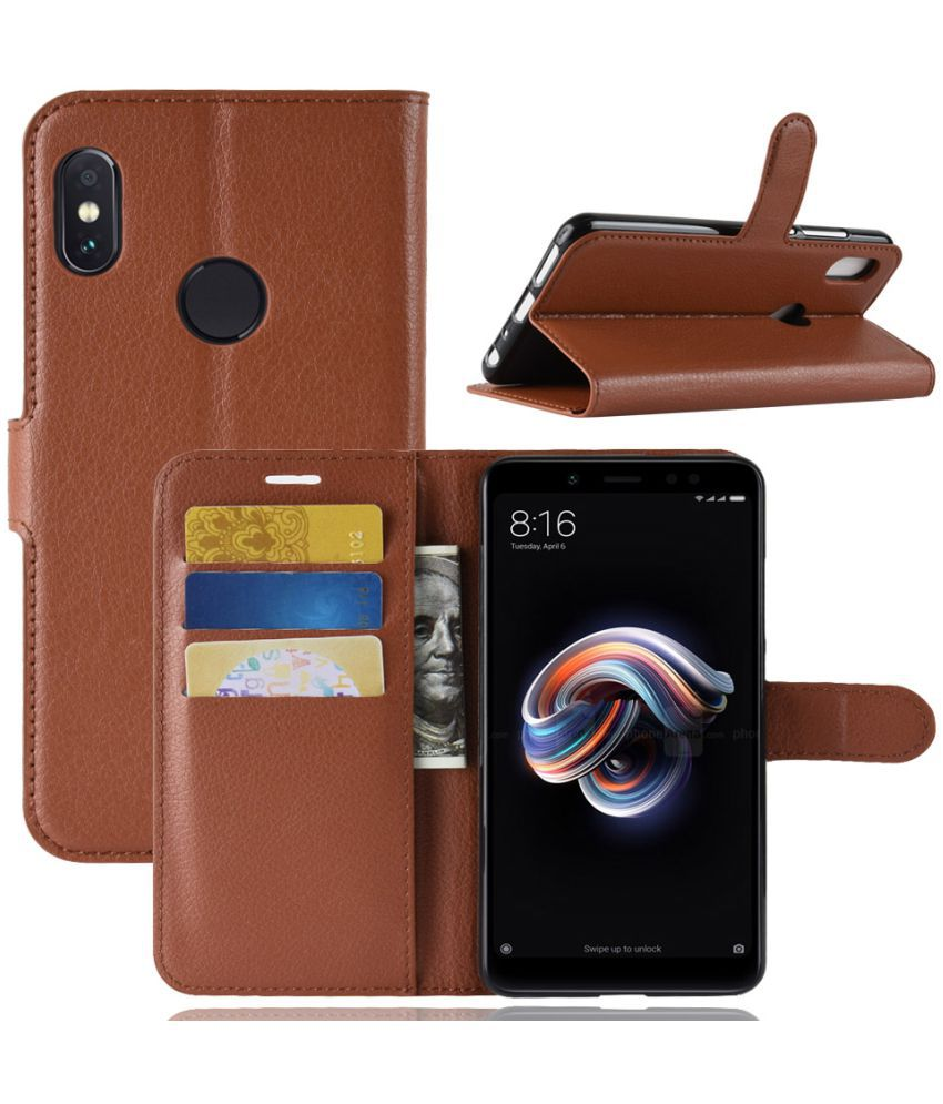 online store 12c99 f4fd8 Xiaomi Redmi Note 5 Pro Flip Cover by iMob - Brown
