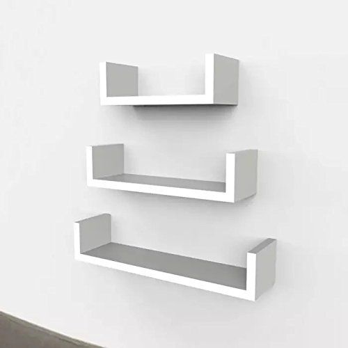 onlineshoppee wooden handicraft wall decor designer wall shelf pack 3 Wall Shelves