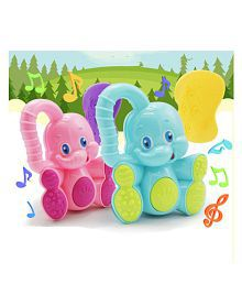 2pc Kawaii Deer Elephant Animal Plastic TOY