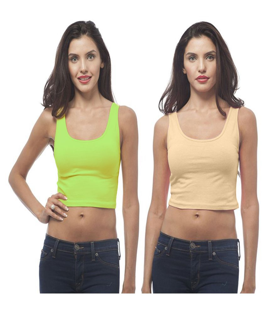 edbfe957878 Fashion Line Cotton Lycra Crop Tops - Multi Color - Buy Fashion Line Cotton  Lycra Crop Tops - Multi Color Online at Best Prices in India on Snapdeal
