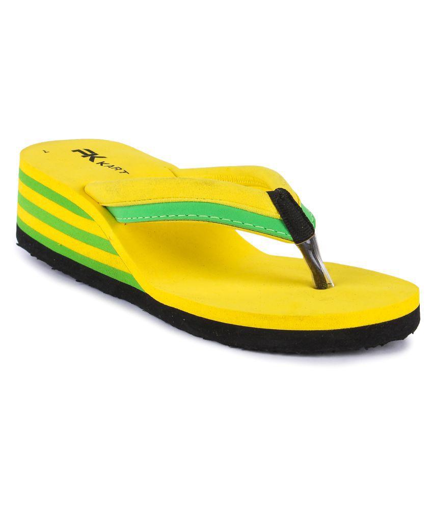 PKKART Yellow Emoji slippers