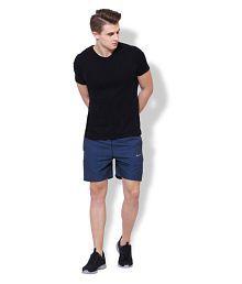 Nike Navy Polyester Lycra Fitness Shorts