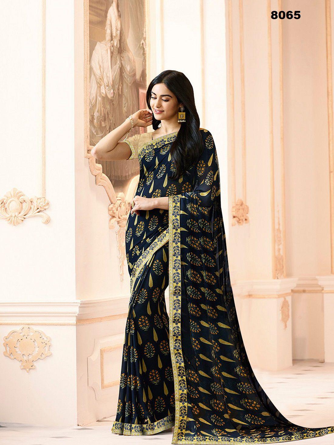 Edeal Online Blue Bangalore Silk Saree