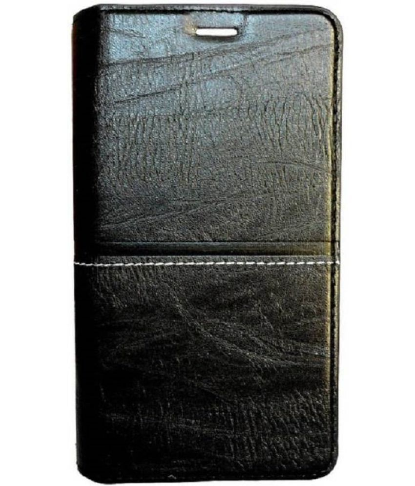 Vivo Y69 Flip Cover by Kosher Traders - Black