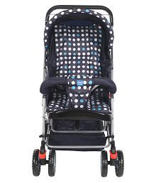 Mee Mee Comfortable Pram with 3 seating position (Navy Blue)
