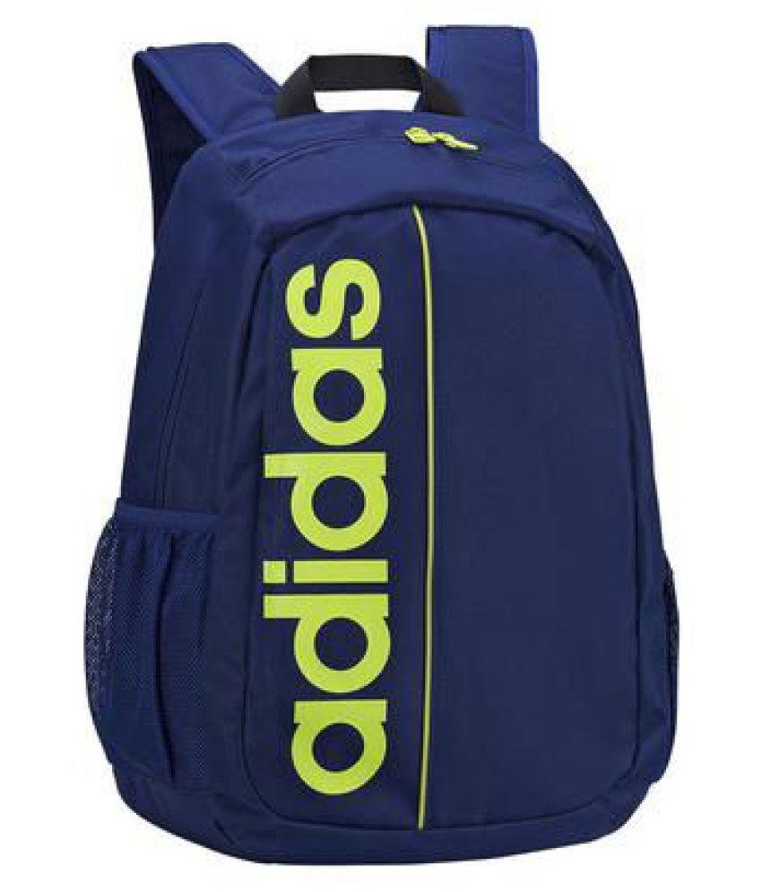 ec82c7436f Adidas Blue Polyester College Bag Adidas Blue Polyester College Bag ...