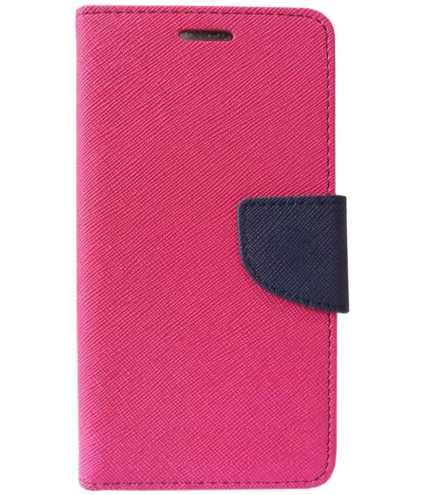 Samsung Galaxy A8 Flip Cover by Kosher Traders - Pink
