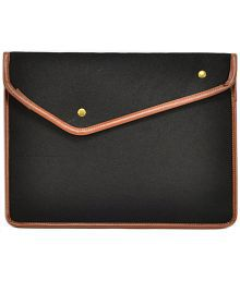 TopCase Black with Button Closure Felt Environmental Sleeve Bag / Carrying Case for Apple Macbook 13