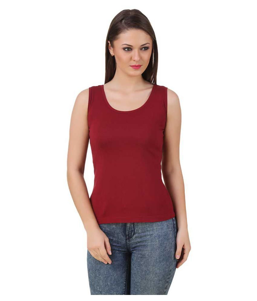 Texco Cotton Blended Tanks - Maroon