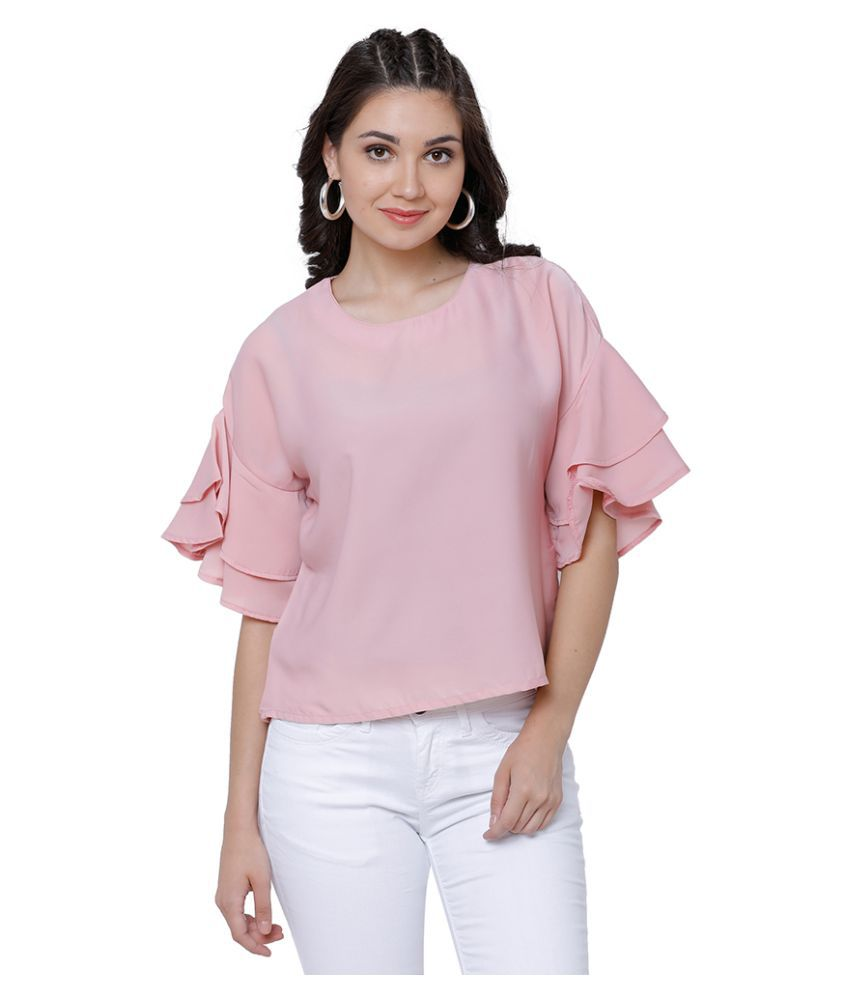 e5818d6a16b Tokyo Talkies Polyester Regular Tops - Pink - Buy Tokyo Talkies Polyester  Regular Tops - Pink Online at Best Prices in India on Snapdeal