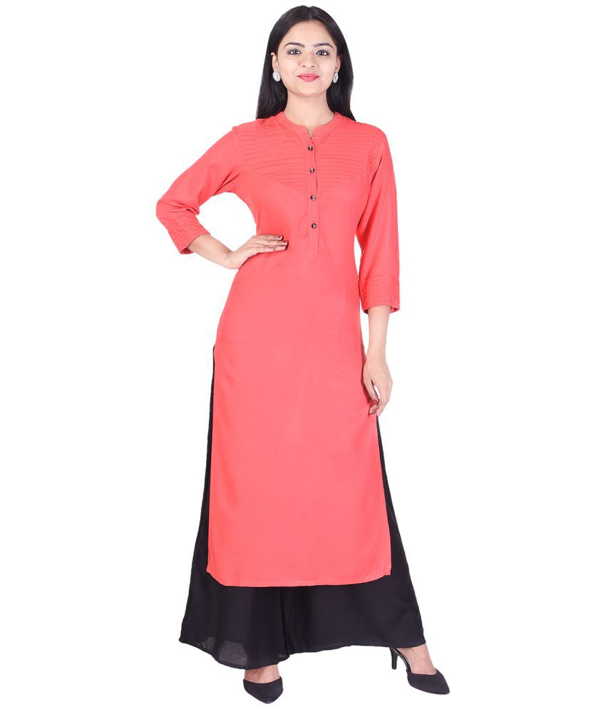 EMPRAL Pink Cotton Straight Stitched Suit