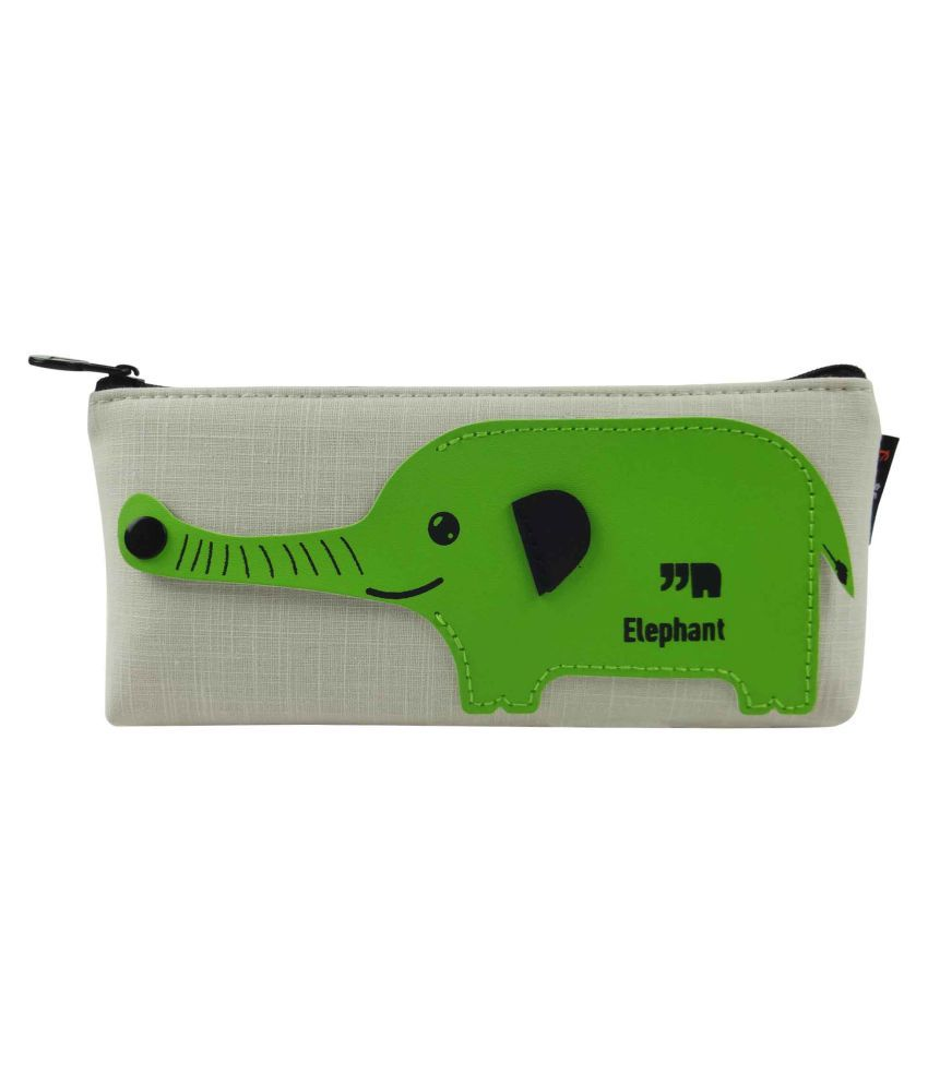 cfb141d8c795 Bag of Small Things Premium Designer Fabric Pencil Pen Case Pouch School  Elephant Green  Buy Online at Best Price in India - Snapdeal