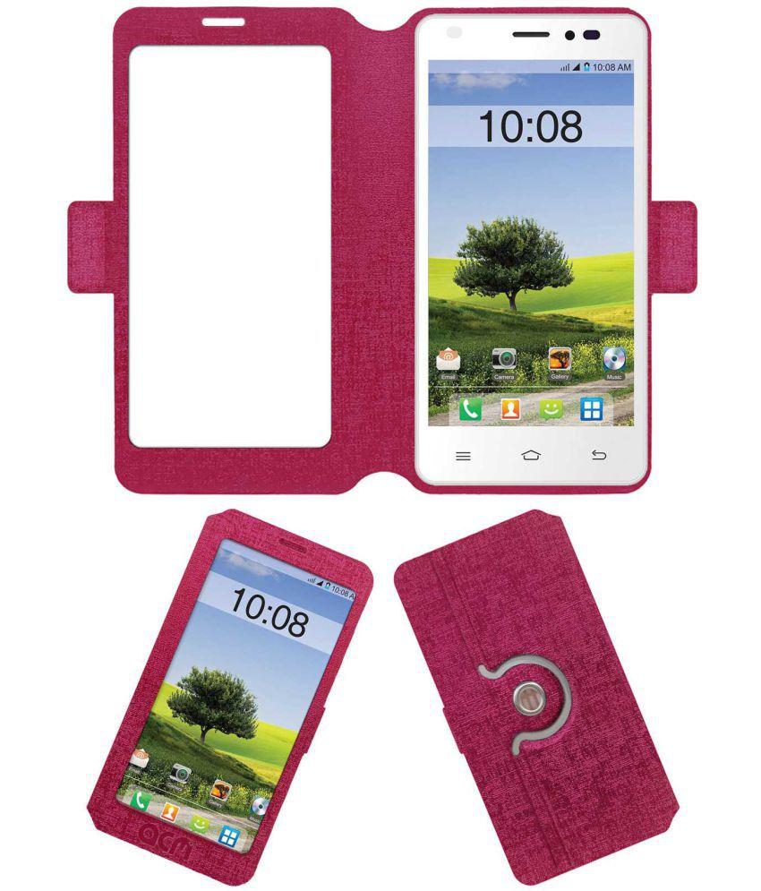 Intex Cloud M5 Ii Dual Flip Cover by ACM - Pink