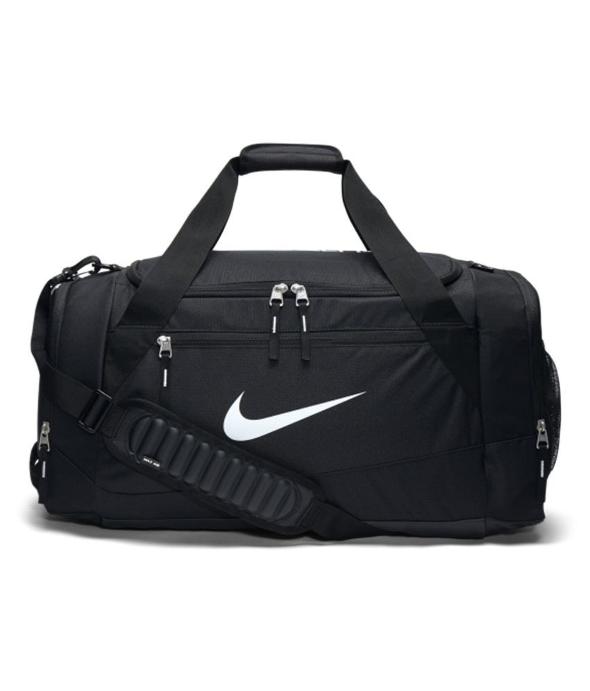 70ac400e7 Nike Black Solid Duffle Bag - Buy Nike Black Solid Duffle Bag Online at Low  Price - Snapdeal